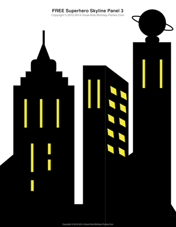 Building clipart comic book. Superhero printables and patterns