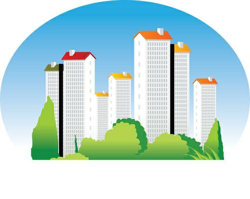 Condo panda free images. Buildings clipart condominium