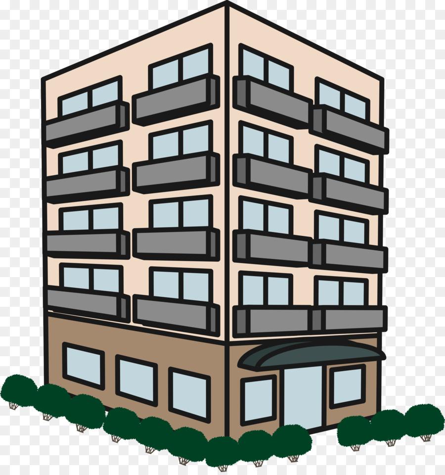 Buildings clipart condominium. Apartment building house clip