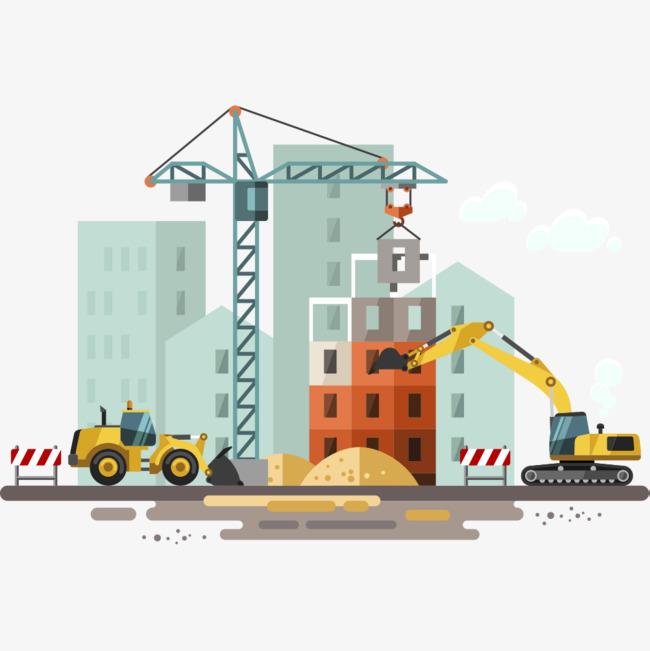 Building clipart construction. Site excavator png image