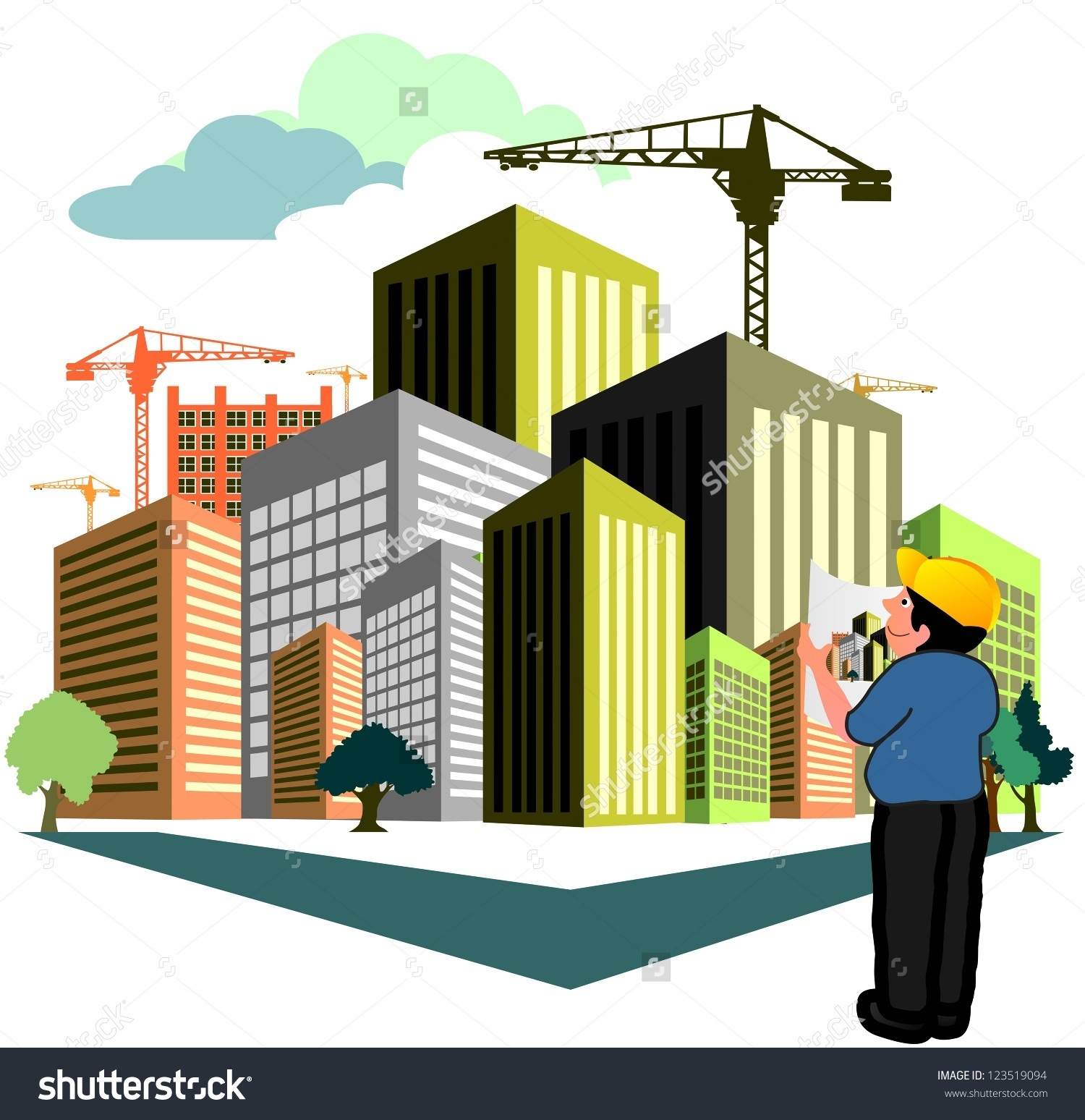 Letters hd in . Building clipart construction