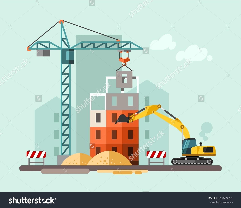 Site a panda free. Building clipart construction