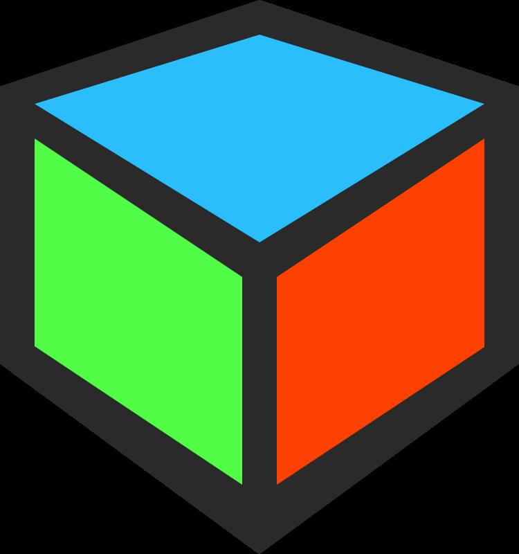 Cube clipart abc. D icon medium image