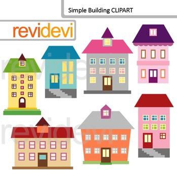 Clip art building school. Buildings clipart simple