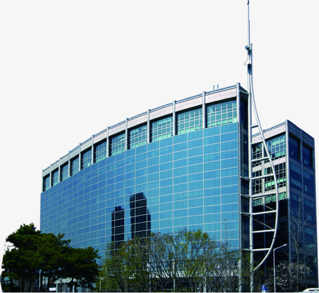 Buildings clipart headquarters. Blue corporate office building