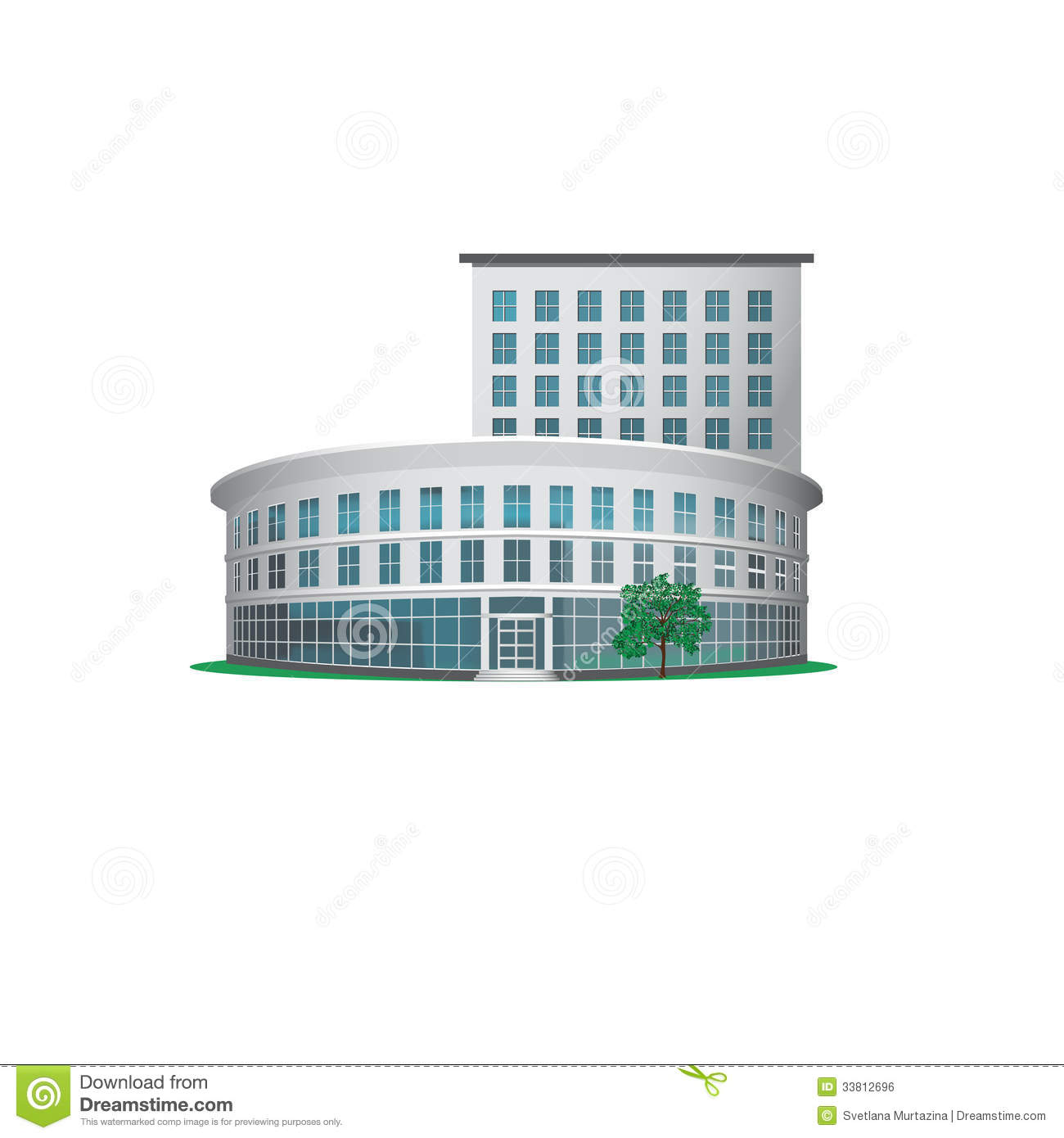 Buildings clipart headquarters. Icon office building with