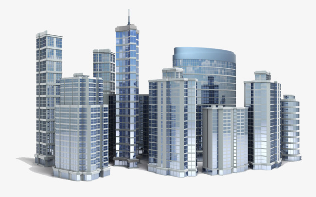 Work area three dimensional. Building clipart high rise building