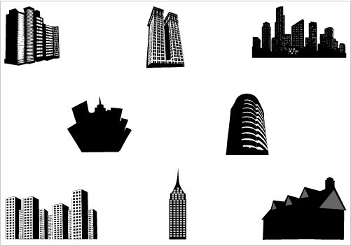 Building clipart high rise building. Silhouette clip art at