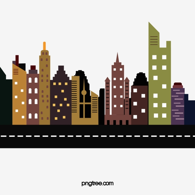 Vector . Building clipart high rise building