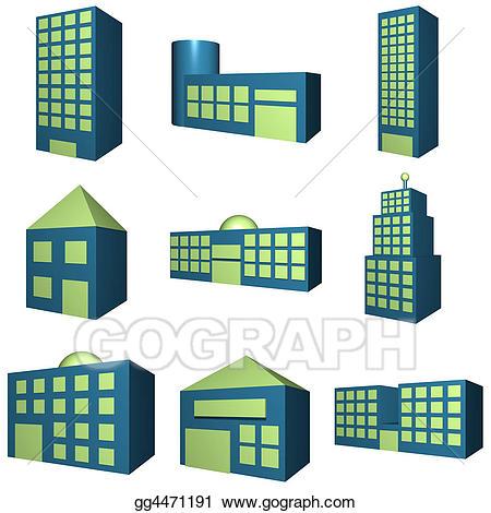 Clip art image of. Buildings clipart laboratory building