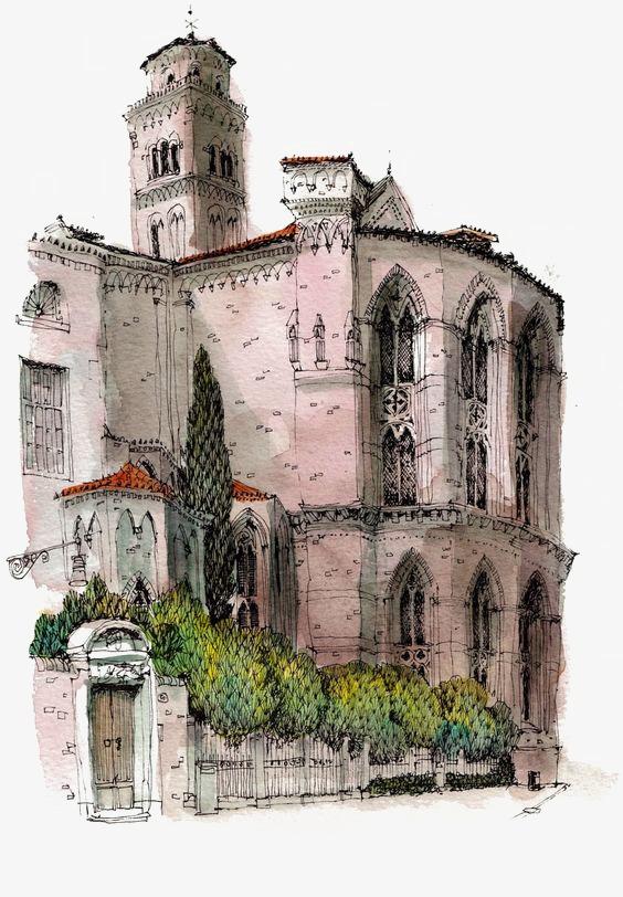 Retro european architecture png. Buildings clipart old building
