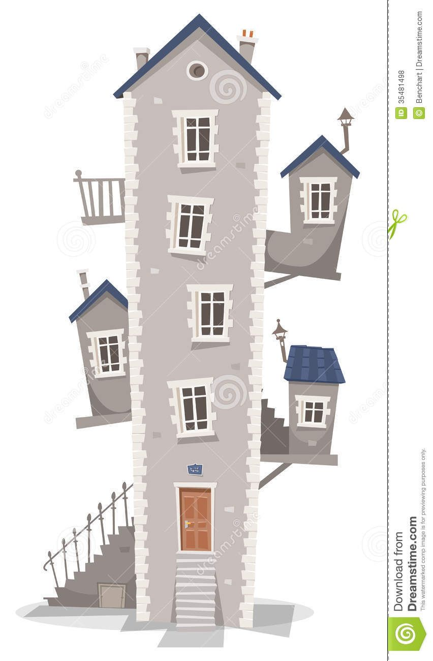 Tall kid hotel town. Buildings clipart old building