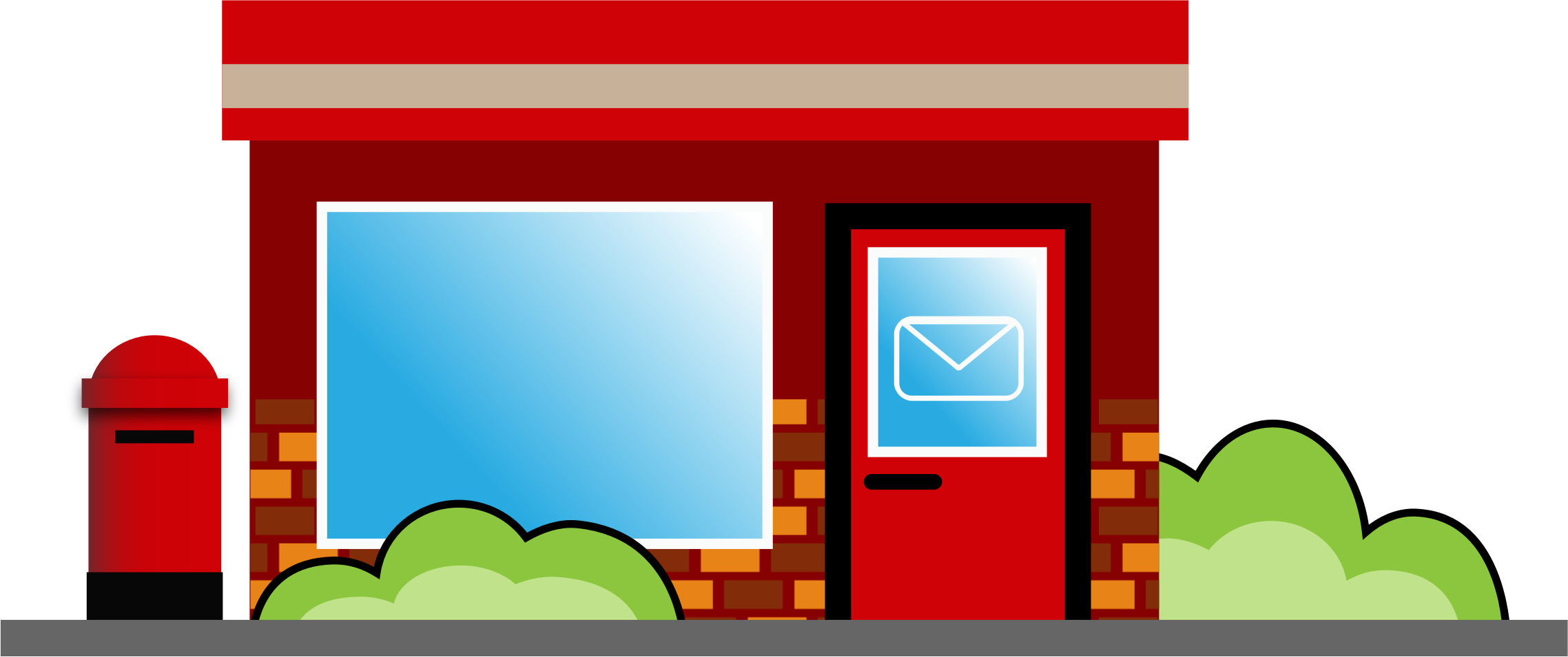 Mail clipart post office. Big image png