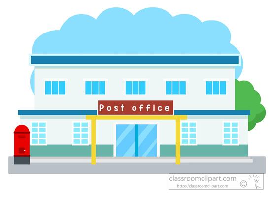 Architecture building classroom postofficebuildingclipartjpg. Buildings clipart post office