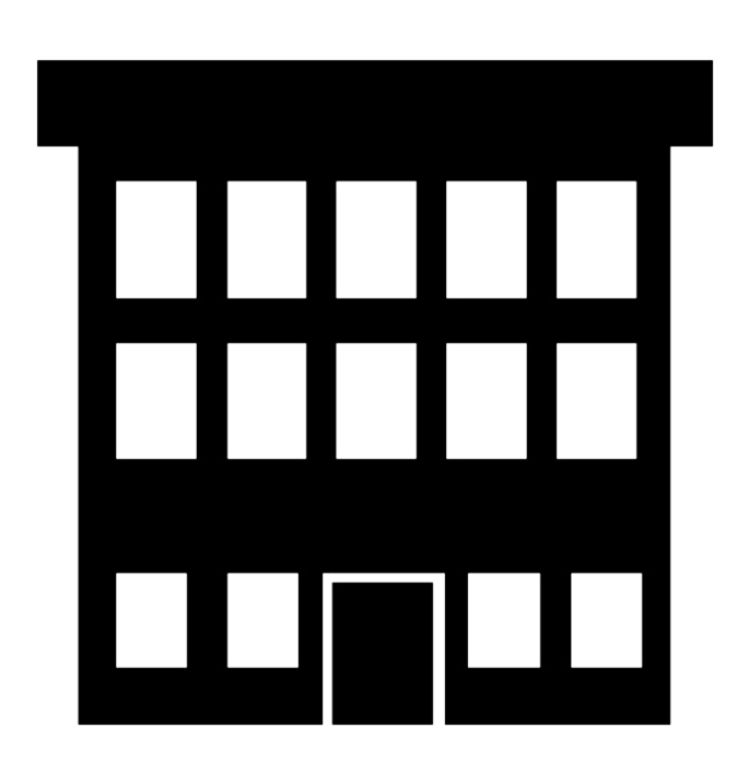 Of house school . Buildings clipart silhouette