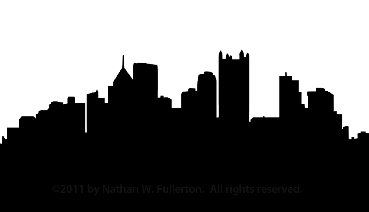 Pittsburgh skyline silhouette dpi. Building vector png