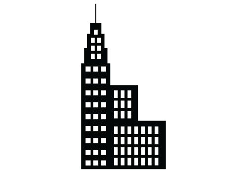 Buildings clipart silhouette. Free building vector