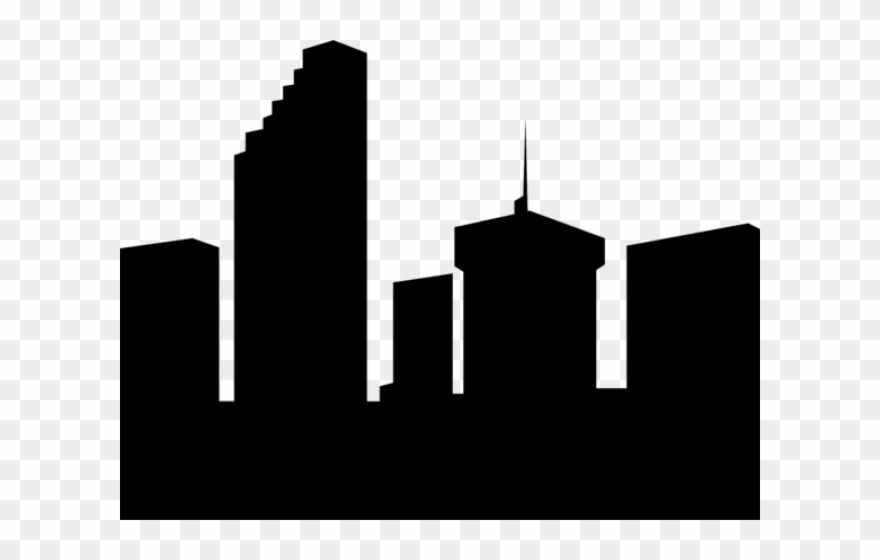 Skyscraper gedung building clip. Buildings clipart silhouette