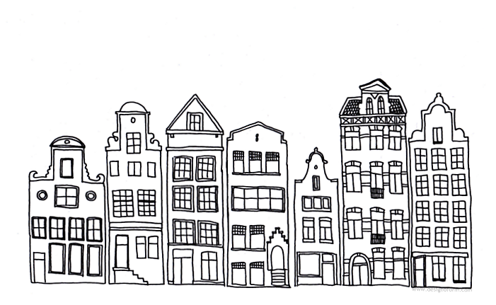Buildings clipart simple. Drawings of in a