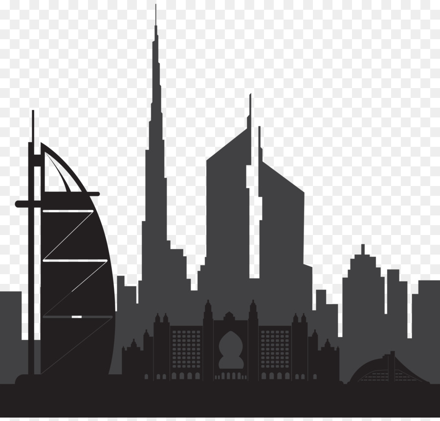 Dubai silhouette clip art. Building clipart skyline