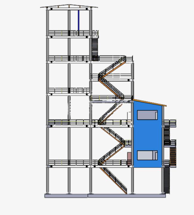 Multi storey steel building. Buildings clipart structure