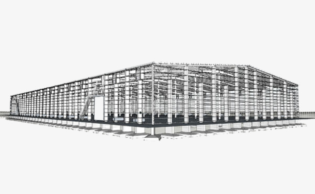 Buildings clipart structure. Large span steel construction