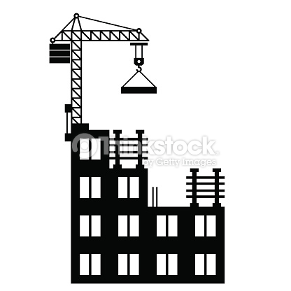 Corporate building pencil and. Buildings clipart structure