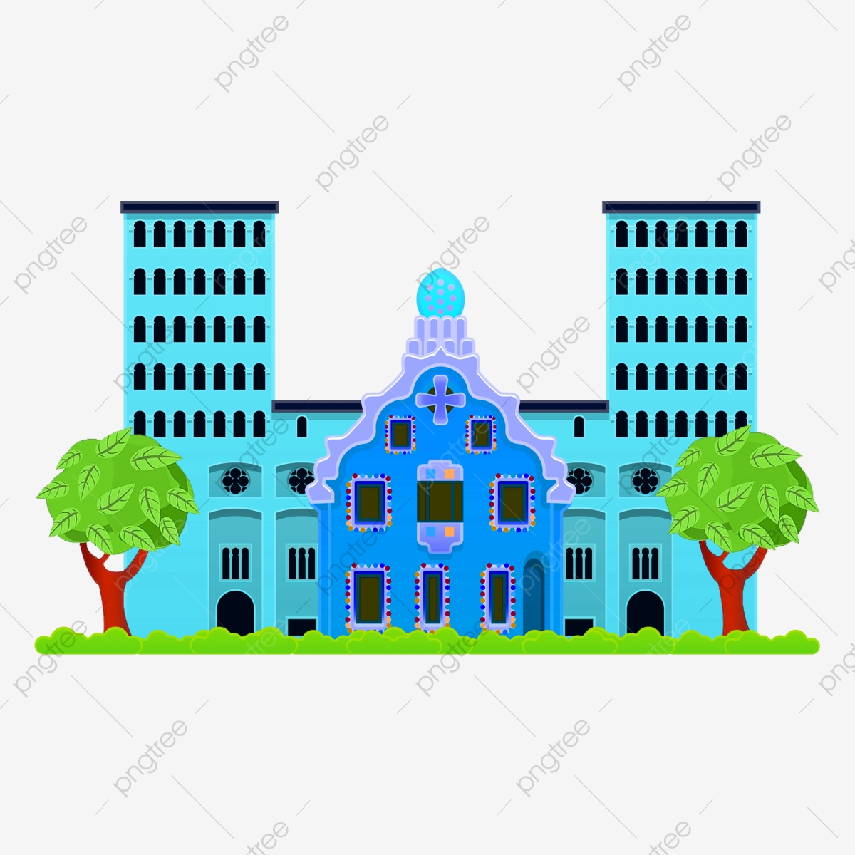 Building working drawing . Buildings clipart structure