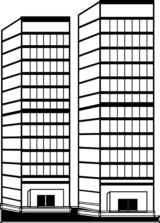 Uncategorized clip art office. Building clipart tall building