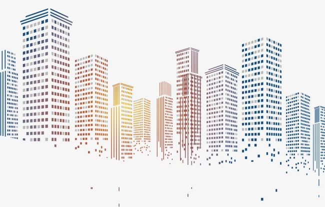 Pixelated city blocks . Cityscape clipart architect building