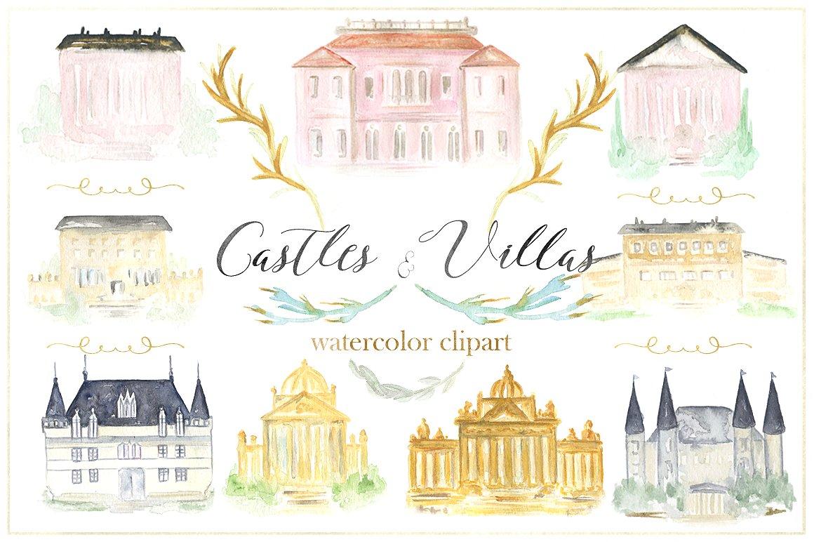 Buildings watercolor