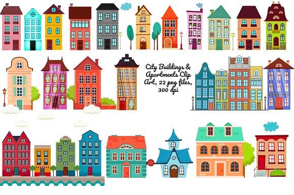 City clip art png. Buildings clipart