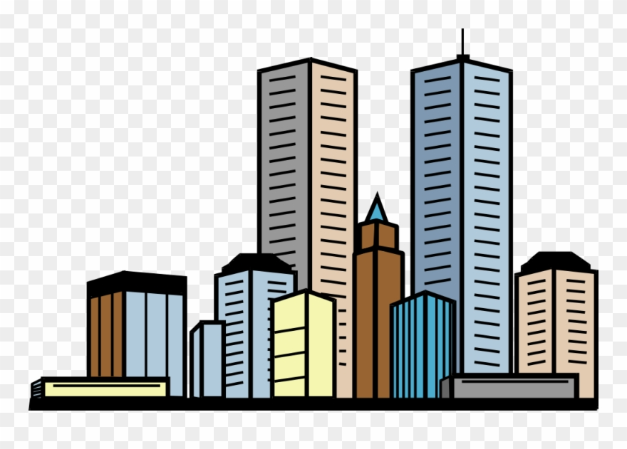 Buildings clipart. Banner royalty free library