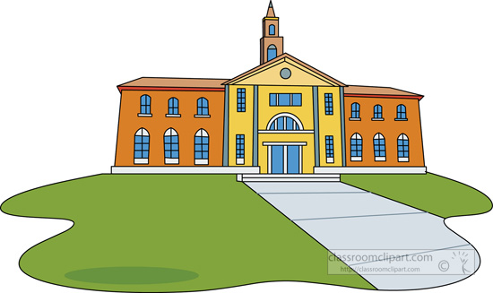 College clipart. Building