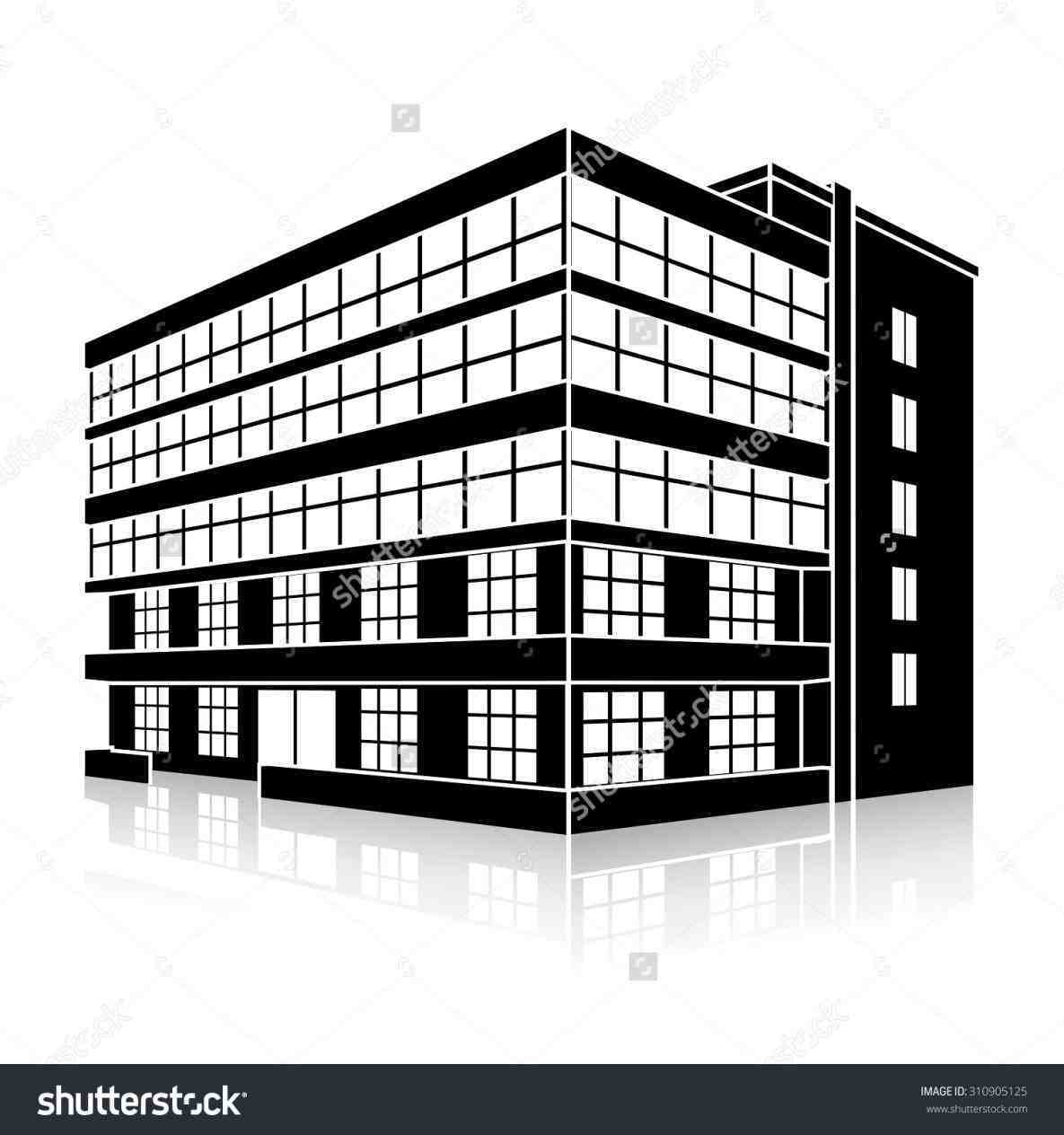 Xtrasrhxtrascom office building apartment. Buildings clipart black and white