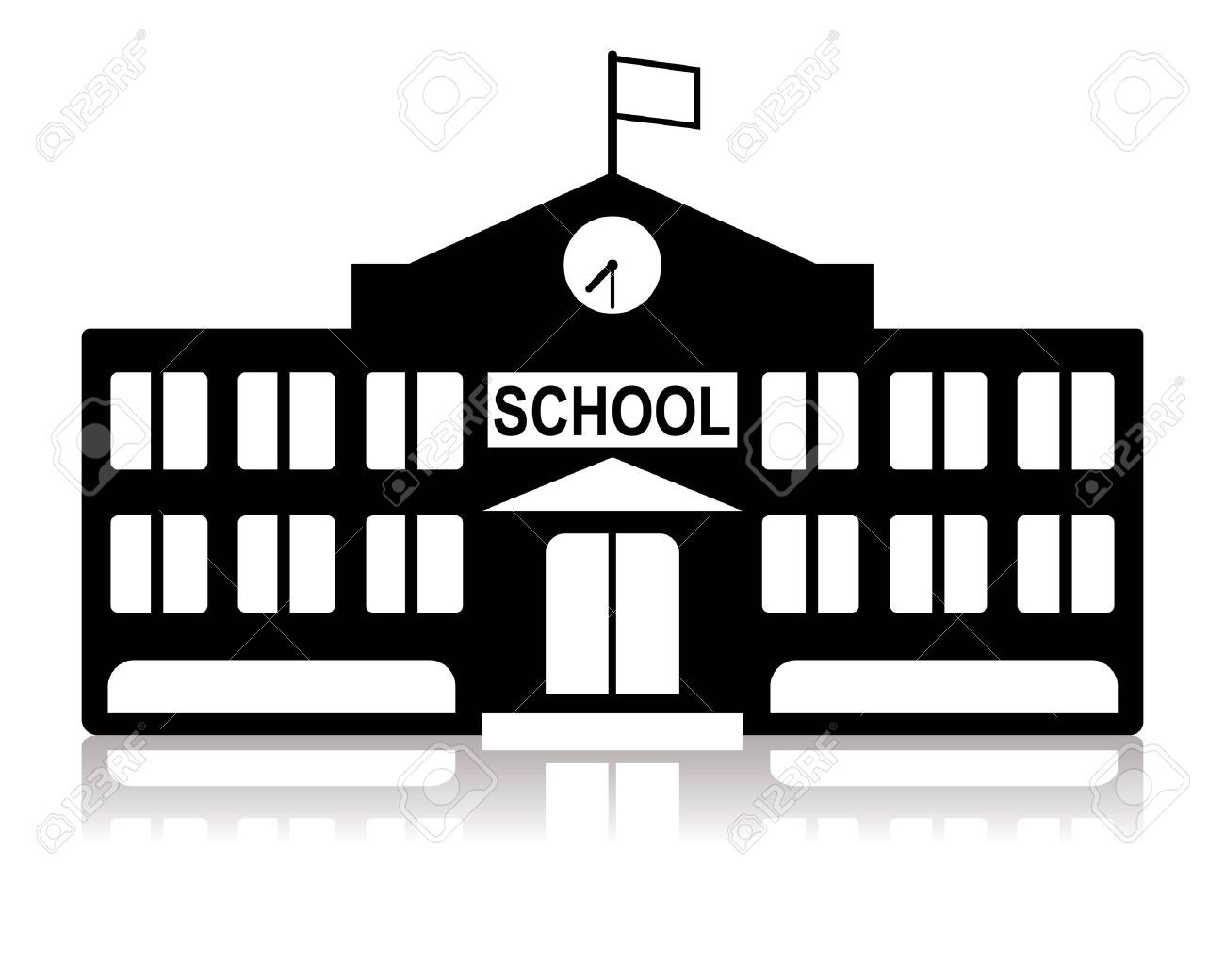 Library building google search. Buildings clipart black and white