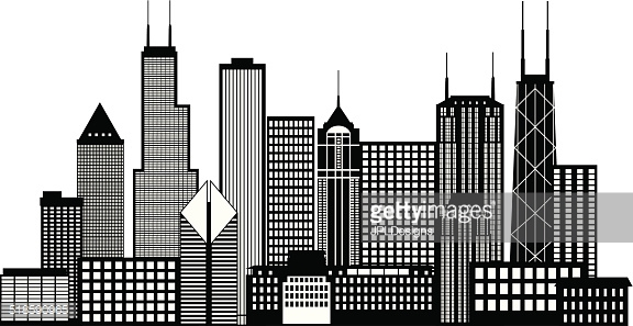 Buildings clipart black and white. City station