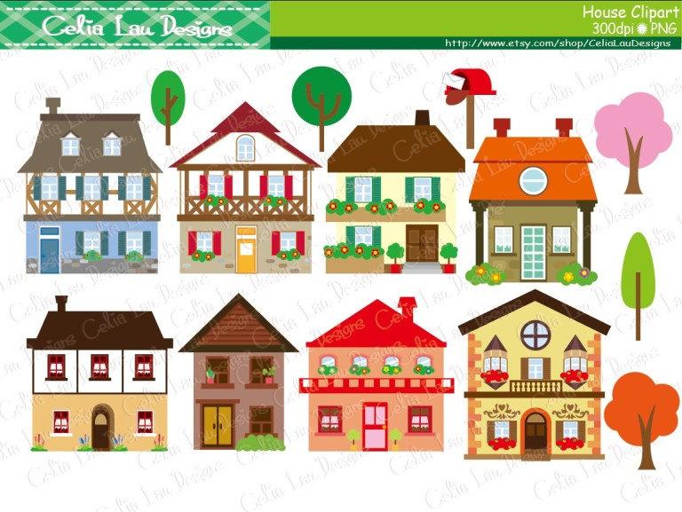 Buildings clipart building design. House houses clip art
