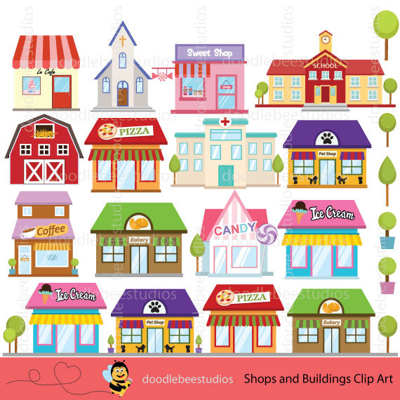 Shops buildings building clip. Shop clipart