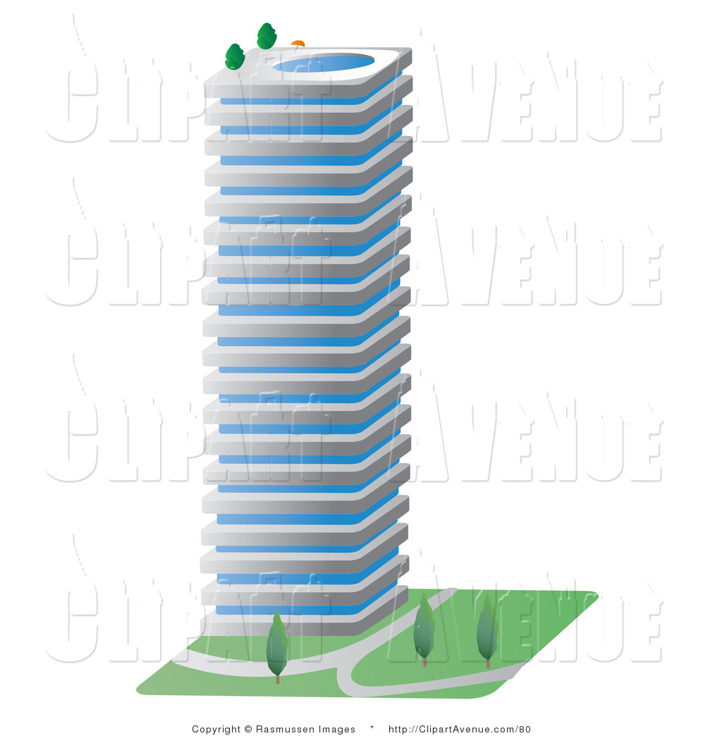Apartment clipart single building. Royalty free stock avenue