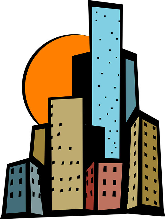 Tall clipart city building. Free download png clipartix