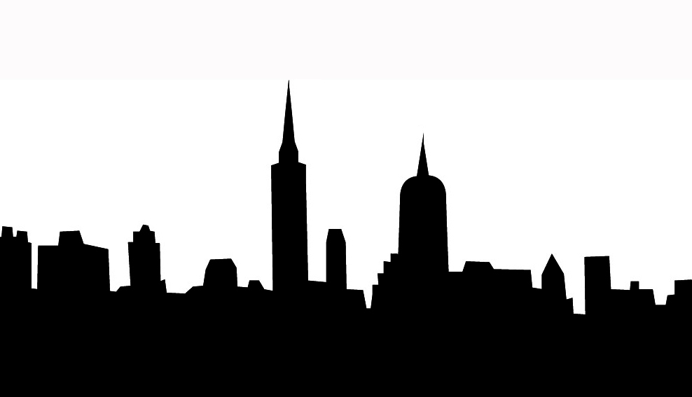 Black clipart skyline.  collection of cityscape
