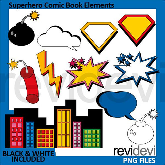Superhero sale graphic clip. Buildings clipart comic book