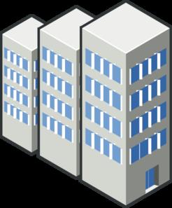 Condos in a row. Buildings clipart condominium