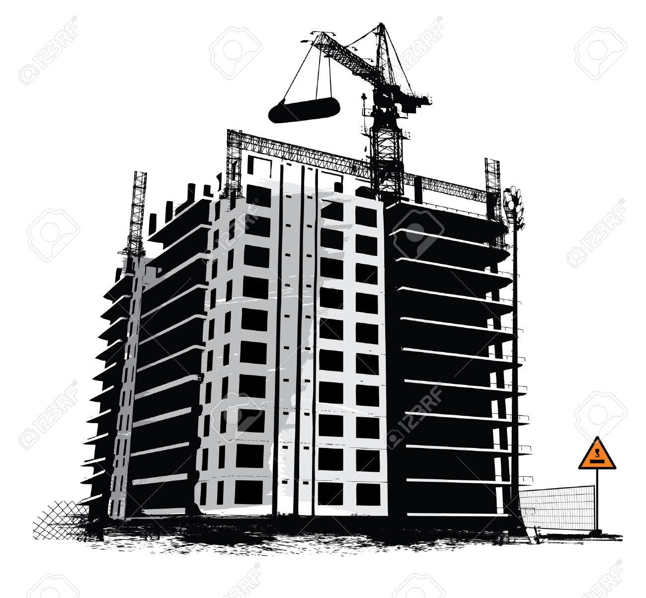 collection of building. Buildings clipart construction