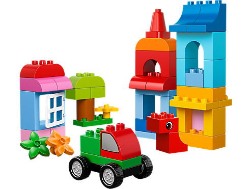 Lego duplo creative building. Buildings clipart cube