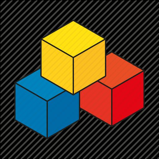 Buildings clipart cube. Iconfinder fineline fill children