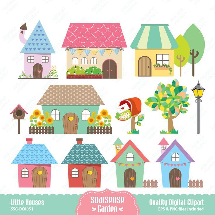 Buildings clipart cute.  best houses images