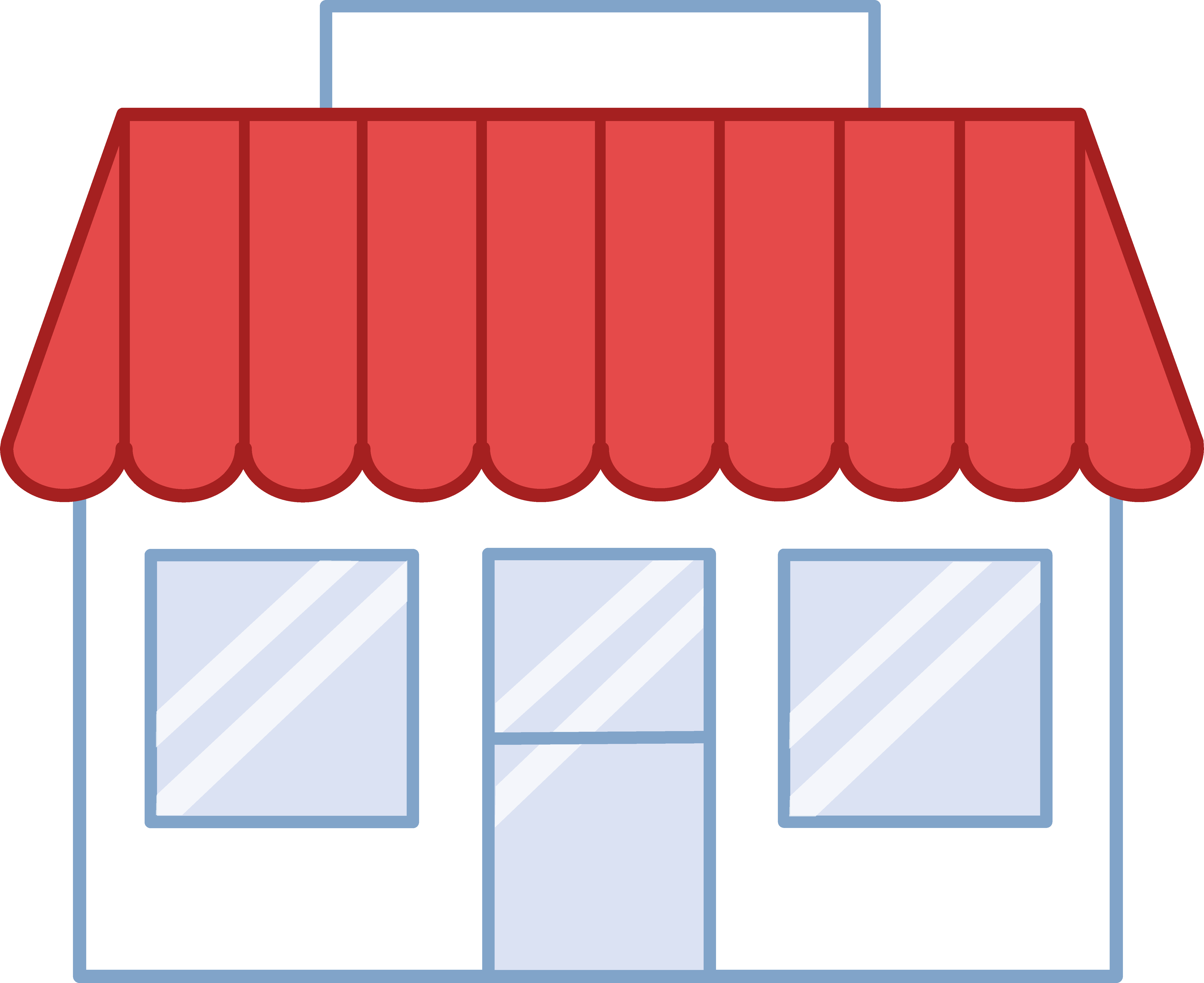 Free . Mall clipart clothing store building