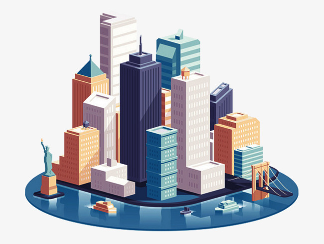 Europe united states statue. Buildings clipart modern building
